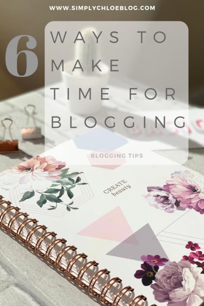 6 wys to make time for blogging, blogging tips