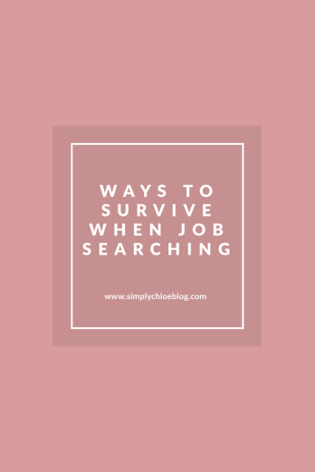 ways to survive when job searching title on a pink backgound